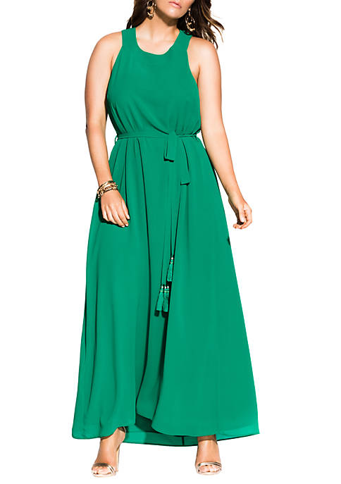 City Chic Plus Size Halter Bliss Maxi Dress