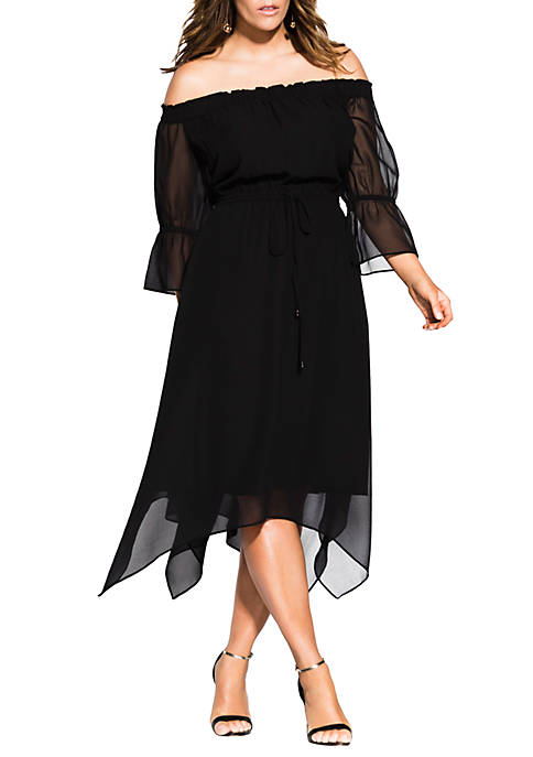 City Chic Plus Size Reflections Dress