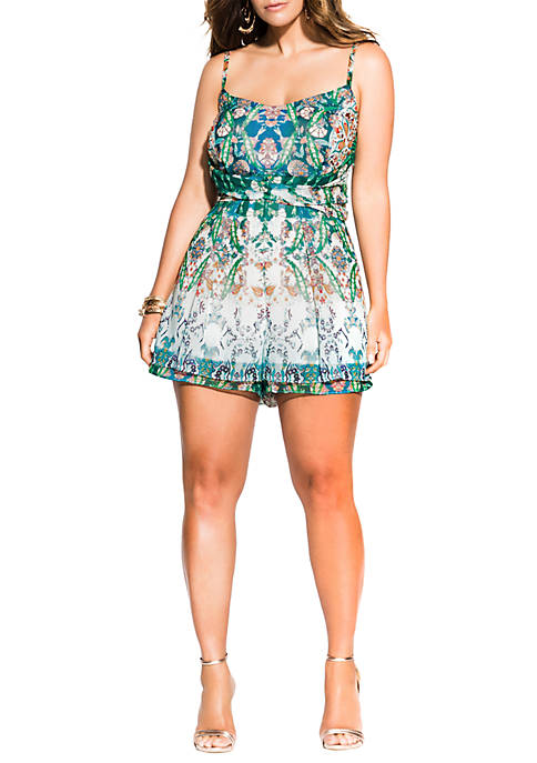 City Chic Plus Size Istanbul Playsuit