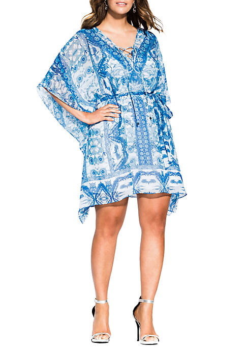 City Chic Plus Size Mykonos Tunic