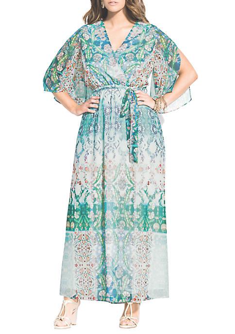 City Chic Plus Size Istanbul Maxi Dress