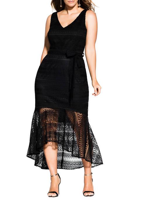 Plus Size Simmer Lace Dress