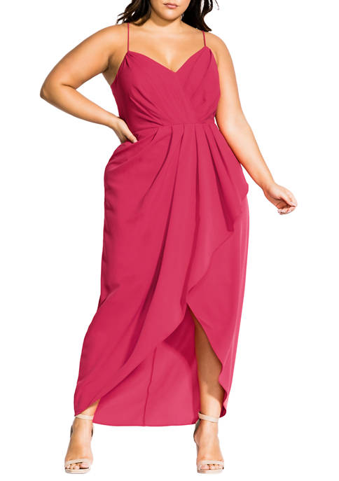 Plus Size Tango Ruffle Maxi Dress