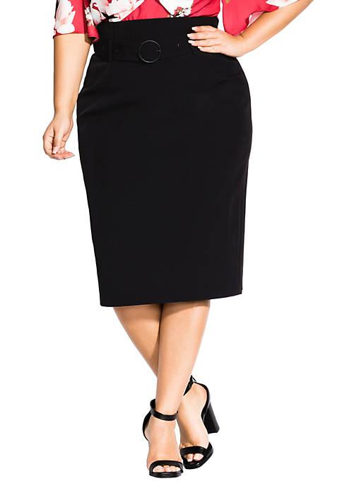 Plus Size Corset Waist Skirt