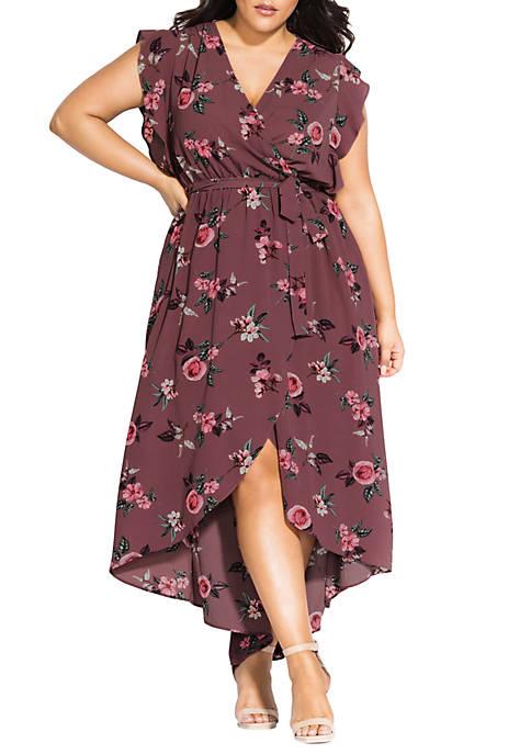 Plus Size Secret Floral Maxi Dress
