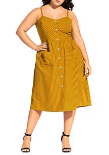 City Chic Plus Size Stripe Touch Dress