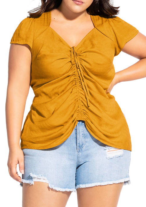 Plus Size Sweet Gathered Top