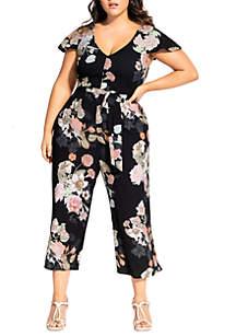 City Chic Plus Size Mid Summer Jumpsuit