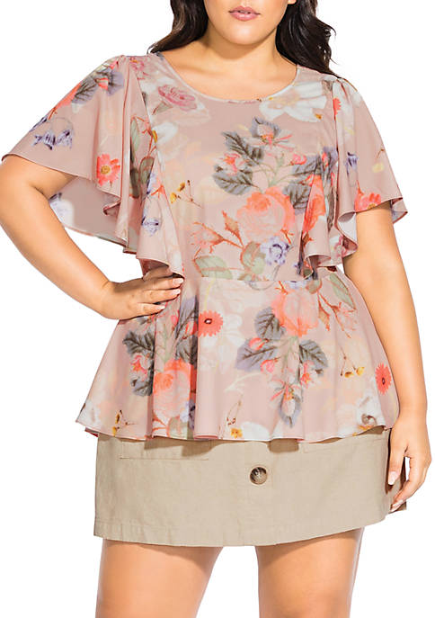 Plus Size Summer Rose Top