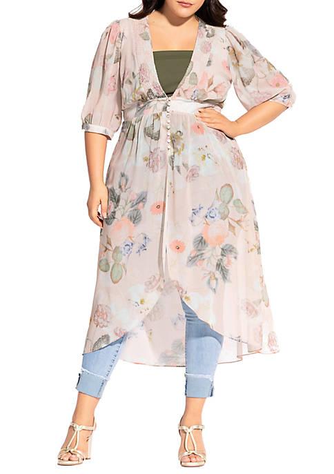 Plus Size Summer Rose Jacket