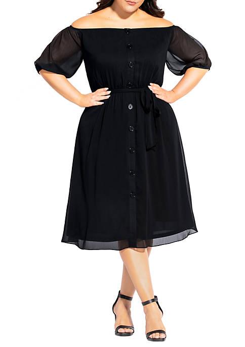 Plus Size Button Through Dress