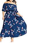 Plus Size Lotus Love Maxi Dress
