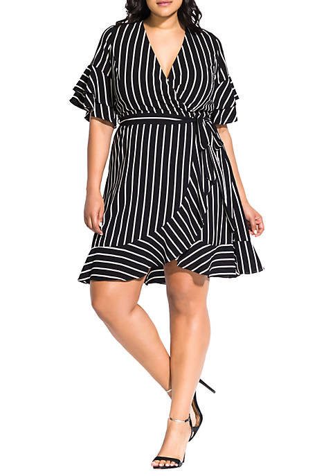 Plus Size Chic Stripe Dress
