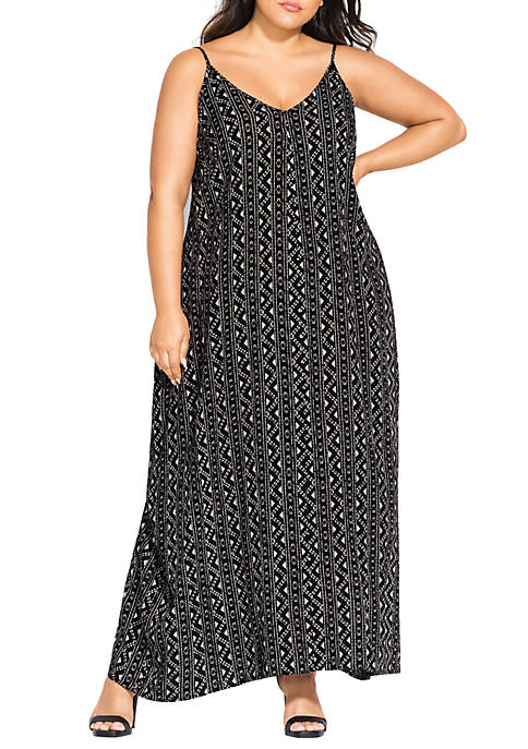 City Chic Plus Size Aztec Mazi Dress
