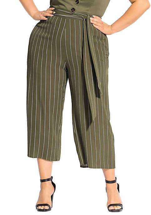 Plus Size Stripe Flair Pants