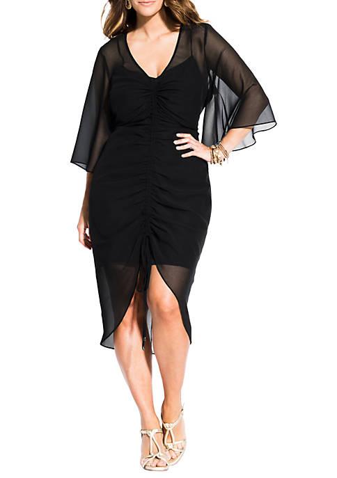 City Chic Plus Size Drawn Up Dress