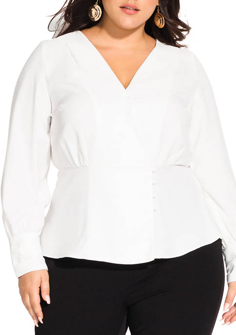 City Chic Plus Size Elegance Top
