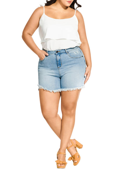 City Chic Plus Size Wild Child Shorts