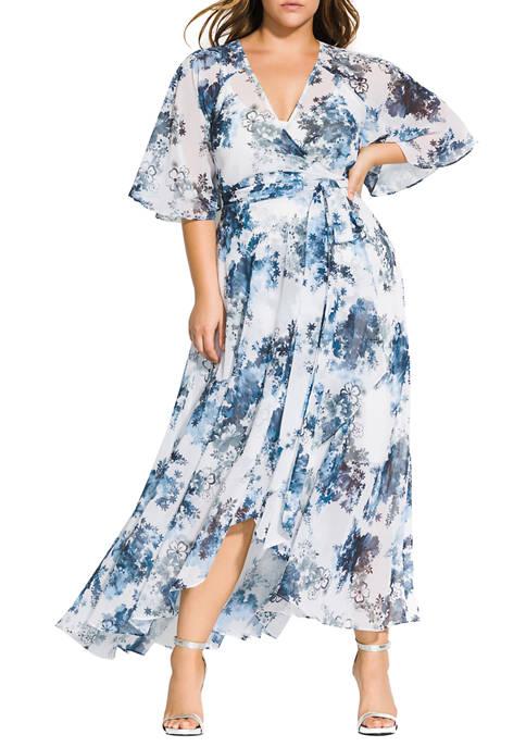 City Chic Plus Size Maxi Kenji Floral Dress