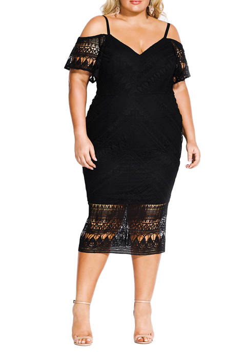 City Chic Plus Size Impressions Dress