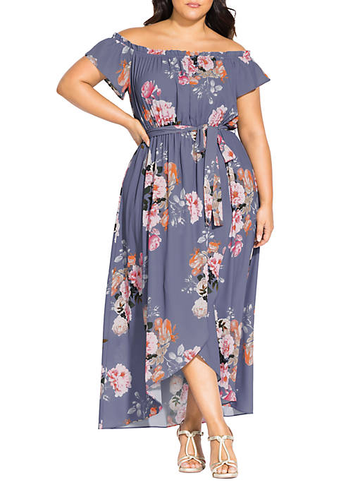 City Chic Plus Size Midi Florence Dress