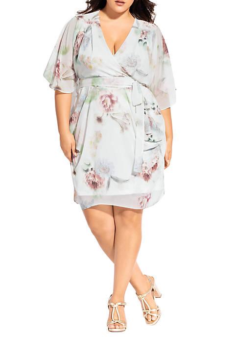 Plus Size Wrap Day Dream Dress