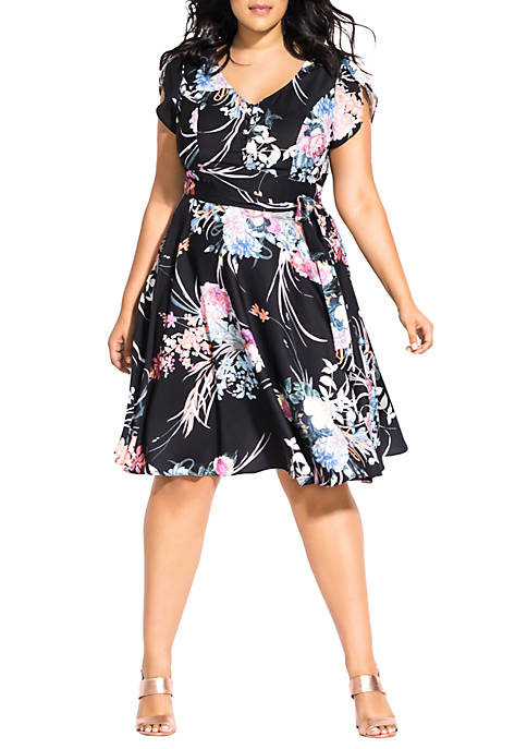City Chic Plus Size Flourished Dress
