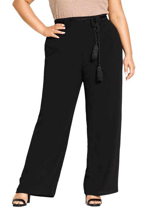 City Chic Plus Size Simple Palazzo Pants