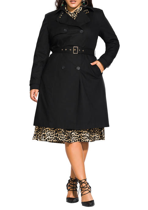 City Chic Plus Size Urban Classic Trench Coat