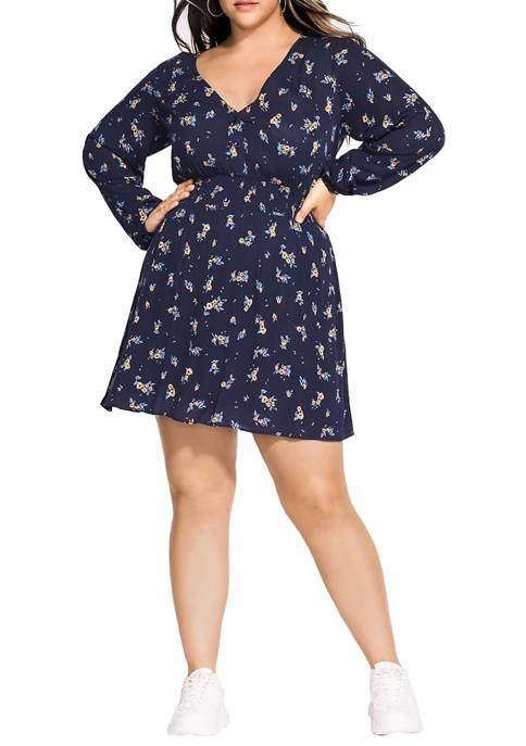 Plus Size Young Floral Dress