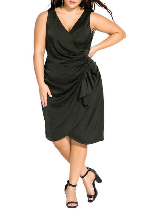 Plus Size Ruffle Around Dress