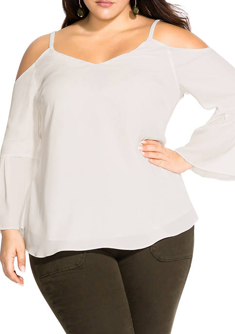 Plus Size Simple Bell Top