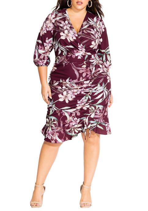 City Chic Plus Size Winter Lily Dress