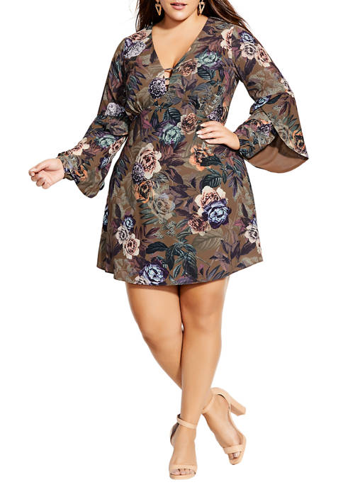 City Chic Plus Size Highland Floral Dress