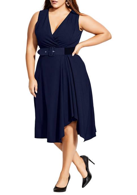 Plus Size Tailored V Dress