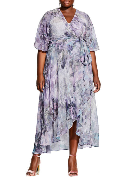 City Chic Plus Size Crystal Floral Maxi Dress