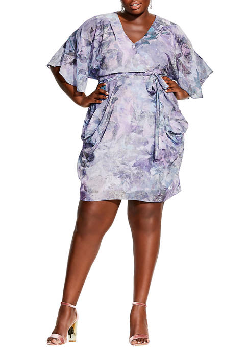 City Chic Plus Size Crystal Wrap Dress