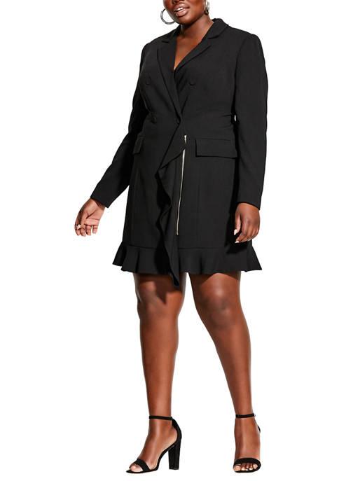 Plus Size Tuxe Ruffle Dress