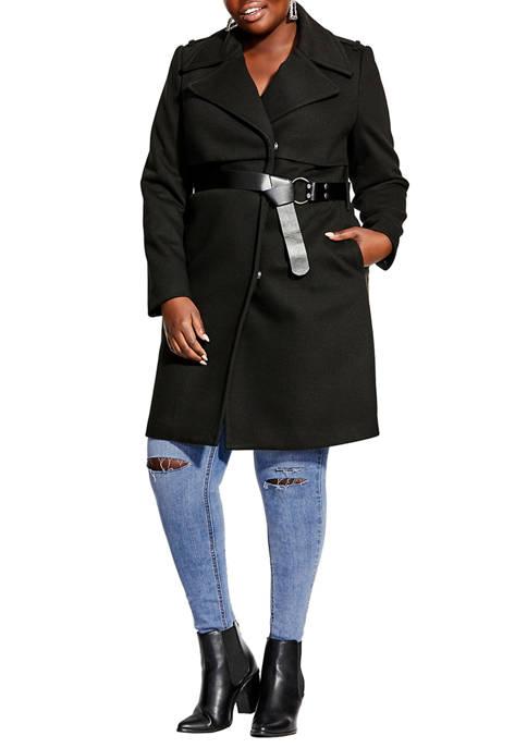 City Chic Plus Size Magnum Coat