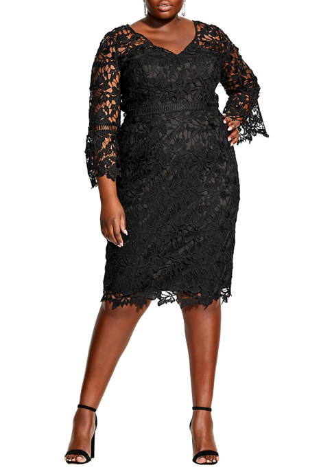 City Chic Plus Size Lace Catch Dress