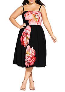 City Chic Plus Size Sublime Bloom Dress