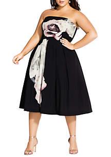 City Chic Plus Size Floral Austin Dress