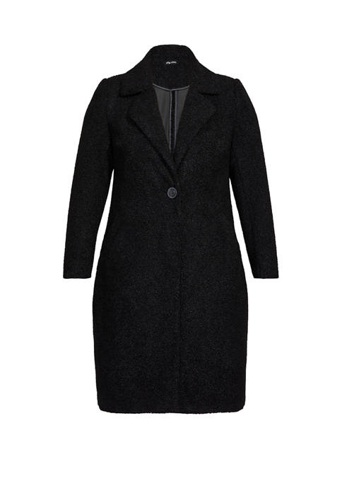 Plus Size Plush Love Coat