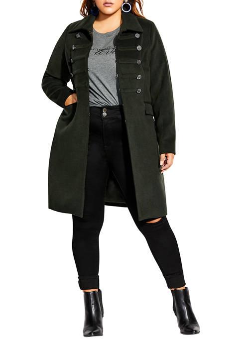 City Chic Plus Size Simply Fierce Coat