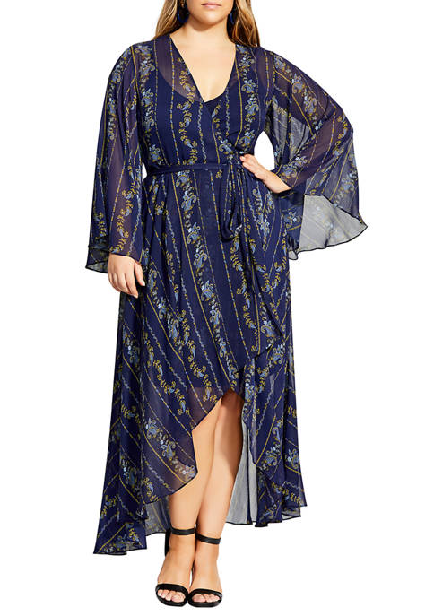 City Chic Plus SIze Paisley Play Dress
