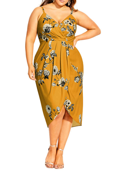 Plus Size Golden Vine Dress