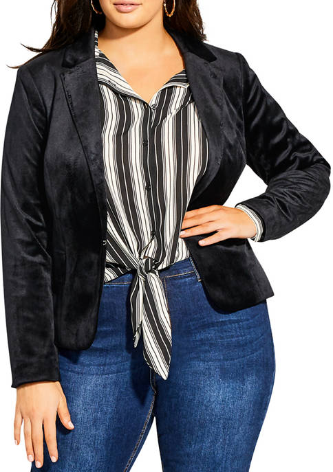 City Chic Plus Size Jacket 70s Glam