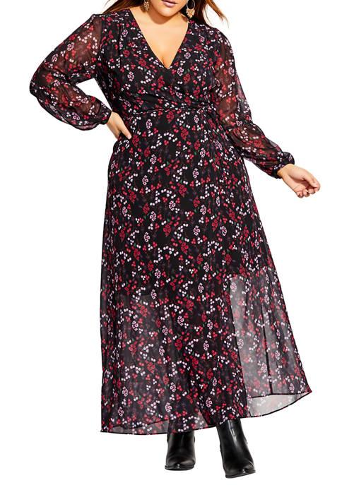 Plus Size Maxi Perfect Posy Dress