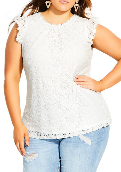 City Chic Plus Size Ornamental Top