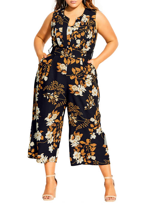 City Chic Plus Size Shimmer Jumpsuit